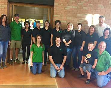 Reliabank employees volunteer to serve at The Banquet in Watertown