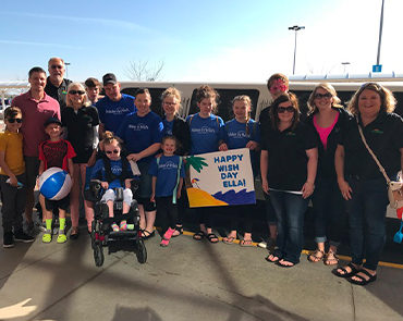 Make A Wish South Dakota - Through fundraising in our communities, we were able to grant a wish to Ella