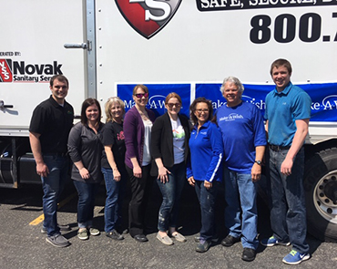 Our Reliacare team hosted a shred event in Watertown to raise money for Make A Wish South Dakota